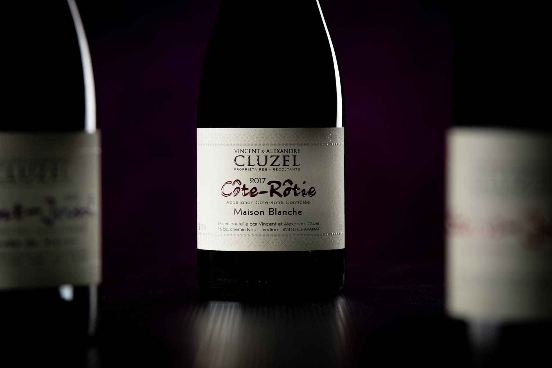 viticulteur, vin, produit, chavanay, bouteille
