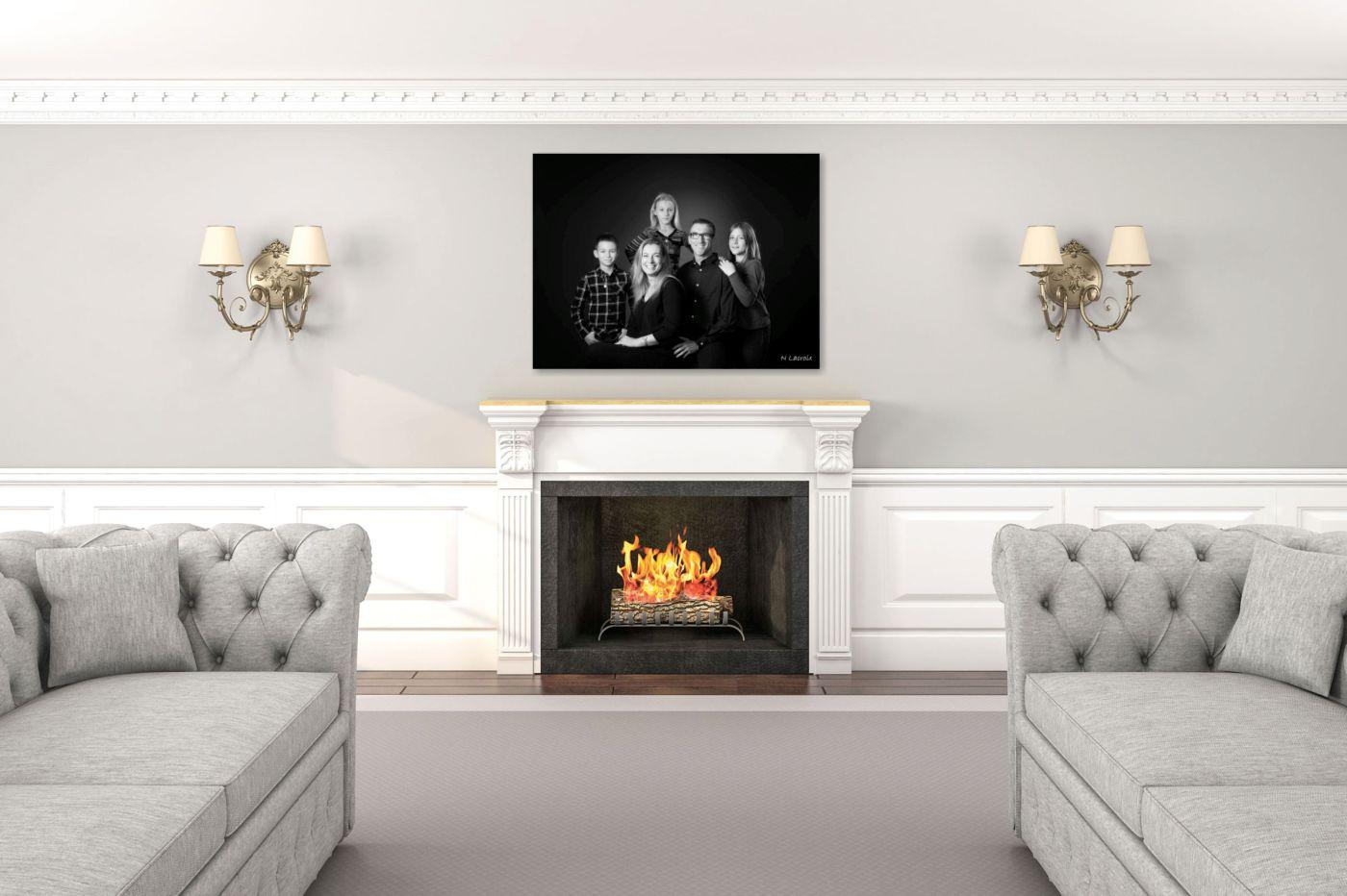 tableau décoration cheminé design